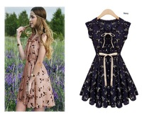 Do not miss the Sweetness women 2013 summer new arrival fashionable chiffon dress princess dress fresh and fawns 3409 (S/M/L)