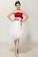 evening dress 2013 new arrival Evening Dresses, Fashion Bowknot princess tutu dress red Evening Dresses, Free Delivery