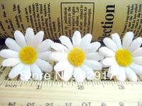25 white sun flower Artificial Silk Flower Heads Craft Wedding 1.5inch SF116
