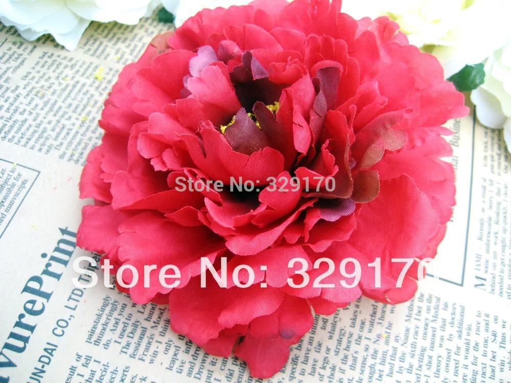 "2pcs peony Head Artificial Silk Flower Heads Craft Wedding 4.8""/12cm SF104(China (Mainland))"