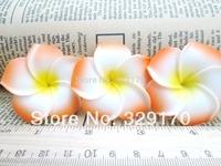 6 orange Foam Floating Frangipani/Plumeria/Hawaiian Flower Heads Pool Pond SF36