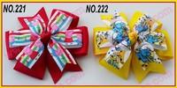 free shipping popular 40pcs 4.5''fashion pinwheel hair bows pin wheel bows large abby hair bows