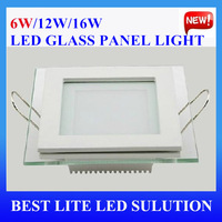 6w Square shape SMD 5730 led glass panel light 2013