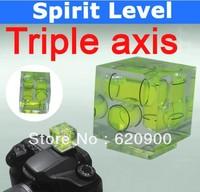 100% GUARANTEE Triple 3 Axis Bubble Spirit Level On Camera Hot Shoe 3D