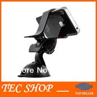 2pcs/lot Universal Mobile Phone GPS Car Holder 360 Degree Rotating Suction Mount Phone Holder Free Shipping wholesale