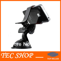 2pcs/lot Universal Mobile Phone GPS Car Holder 360 Degree Rotating Suction Mount Phone Holder Free Shipping wholesale