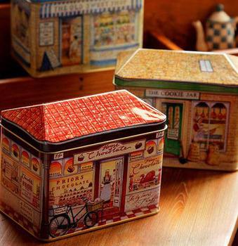 Philco metal storage box clockwork music box music box birthday gift