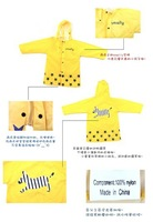 smally super cute cartoon children raincoat, baby poncho, poncho raincoat cartoon, factory direct