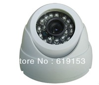 CMOS 420TVL 24LED Night Vision Color IR Indoor Dome CCTV Camera ,Home Security Camera free shipping