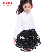 Baby Girls Summer Puff  TUTU Skirt  Black Lace  Layered Skirt Girls Pink White Princess Skirt