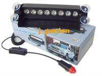 car light source Car Truck Flashing 8 LEDs White Strobe Windscreen Emergency Light car styling Light Bar