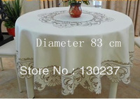 010/ Diameter 83 cm/Round European style embroidered tablecloths / table mat / hand towel / coffee table tablecloth