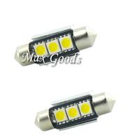 2PCS 36mm CANBUS Error Free Parking 3 LED 5050 SMD 6418 C5W License Plate Dome White Festoon Light Bulb