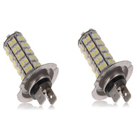 2X Car Vehicle Parking H7 68 3528 SMD LED White Xenon Headlight Bulb Fog Light Lamp 12V