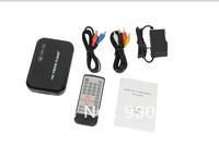 Full Hd 1080P Media Player USB/SD RMVB RM H.264 MKV AVI VOB with AV, YUV, VGA HDMI port Mini Hdd player free shipping