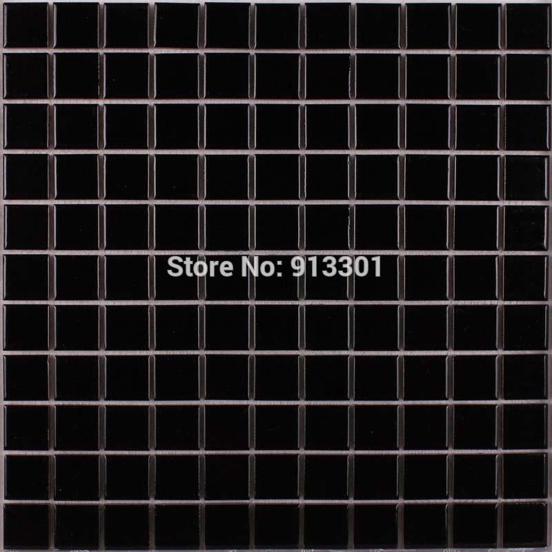 ceramic mosaic tiles black glazed porcelain kitchen back