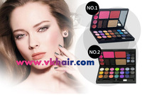 Freeshiping Danni 21 color Eyeshadow + 4 Lip gloss+2 Blush + 2 Eyebrow powder+ 1 Foundation+2 brush ,Mix makeup Palette Kit