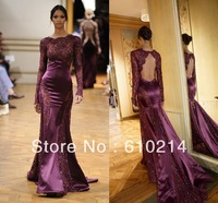 Zuhair Murad Pre Fall 2013 Prom Dresses Amazing Long Sleeves Lace Evening Formal Gowns Mermaid/Trumpet Pageant Dresses