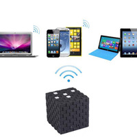 Cube design  Wireless Bluetooth speaker box+handsfree MIC+Free shipping