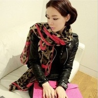 Hot blast F002 heart-shaped leopard scarves, scarf wholesale free shipping!