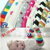 10pair/lot free shipping baby's leg warmers,Long leg warmers/long knee child warm