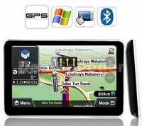 FREE SHIPPING 4.3 inch Touch SCREEN FM GPS navigation MediaTek Win CE6 free MAP+4GB flash mermory