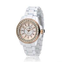 [Free Shipping] Lovers fashion men Women black and white gold quartz watches s9390