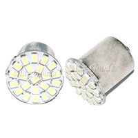 Hot Saling 2X 1156 BA15S P21W 1129 Car White 22 1206 SMD LED Tail Signal Light Lamp Bulb