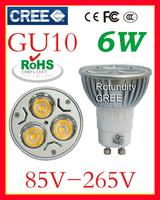 10x   GU10 3W 6W 9W Warm Cool White Downlight High Power Energy Saving Light Lamp Bulb 85V-265V