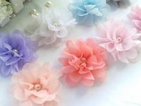 Trial order Promotion Hot Sale DIY Mini Chiffon Flowers Solid Ballerina Flowers 50pcs/lot By AngelBaby headwear