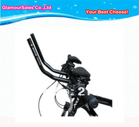 Hot sell!Road Mountain Bike Cycling Race Bicycle MTB Aluminum Alloy Triathlon Aero Handlebar Rest Handle Bar!Separated 2pcs pipe