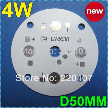 20pcs/lot 50mm LED PCB 4W LED heat sink LED aluminium base plate DIY For 4W high power lamp lighting  free shipping