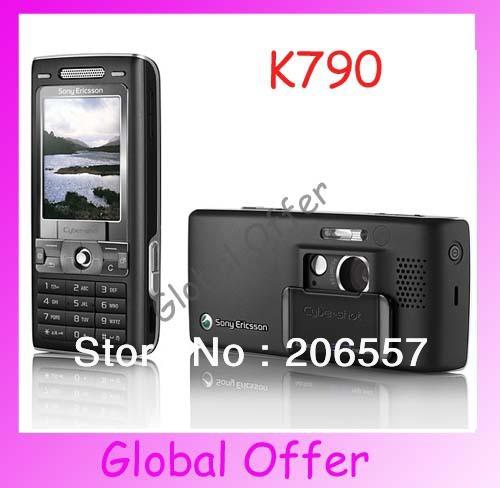 K790 Sony ericsson K790i Original Unlocked mobile phone 3.2MP camera Bluetooth FM MP3 cell phone 1 year warranty Refurbished(China (Mainland))