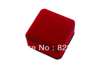 Velvet box bordeaux pendant ring box package box necklace bracelet earrings velvet jewelry box Custom LOGO