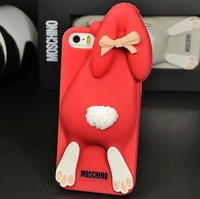 Case for iPhone 4/4s/5/5s Absolutely Top Quality Silicone Rabbit case in 7 Colors with Retail Package