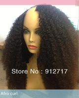 New Arrival Pretty Afro kinky Curl U Part wig for sale