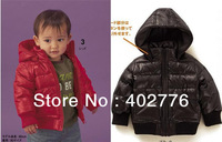 5 pcs/lot baby clothing Casual Cotton-padded Baby boy/girl jacket Children Outwear Popular Zipper Coat 2 colors TLZ-S0108