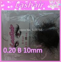 B curl cheap price single individual eyelash extension 10mm