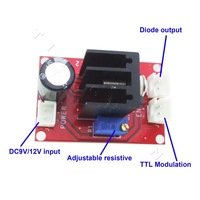 2013 free shipping lighting led Laser Diode laser module Driver for (100mW-2W) 445/450nm blue laser+ TTL