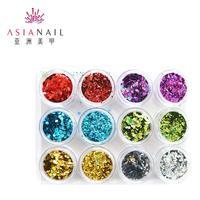 13.5 set asn-gp4 glitter nail art laser powder paillette