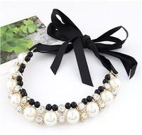Ribbon false Collar Necklace  style 2