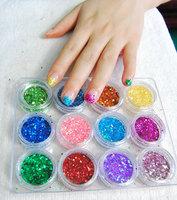Large size nail art glitter paillette glitter powder 12 row pen