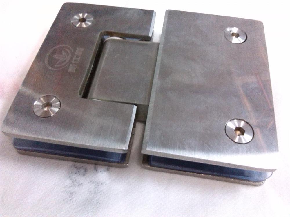 Stainless steel bathroom clamp 180 degree glass door hinge(China (Mainland))