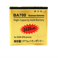 For SONY Ericsson BA700 Business battery 3.7V 2430mAh High Capacity Free Shipping