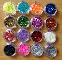 Nail art supplies glitter shining paillette powder laser chip diy mixed powder