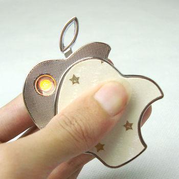 Apple Kind USB Charge Cigarette Lighter 5 pcs/lot Free Shipping