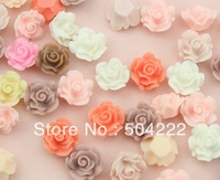 set of 100pcs medium size colorful Resin Rose Flat Back Cabochon charm for Bobby Pins, Flower Rings,  jewelry Pendants 0.7inch