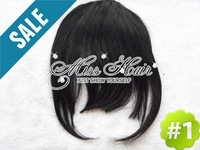 best-selling high quality clip in bangs extension fringe, ALL colors free shipping woman style front side hair fringe