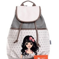 2013 women's handbag fashion student school  PU  travel  juniors print-bag
