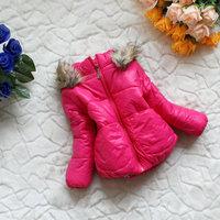 1-4 years baby girl's winter outwear coat/jacket(fuschia, black, pink), cheap children's winter fashion clothes, free shipping